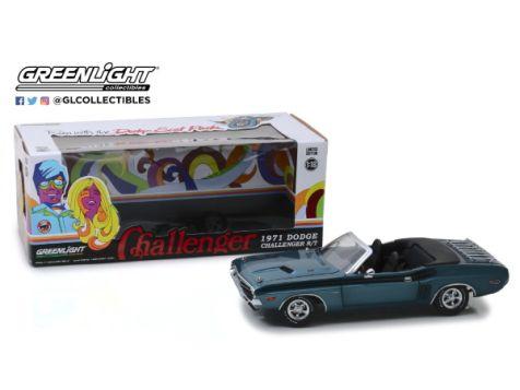 1:18 Greenlight Black 1970 Dodge Challenger R/T Convertible Gold