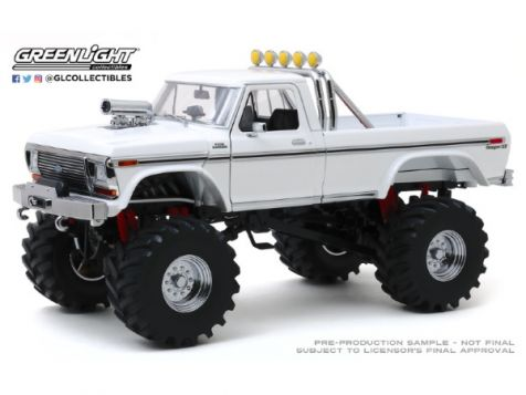 """1:18 Greenlight 1979 Ford F-250 Monster Truck w/48"""" Tyres"""