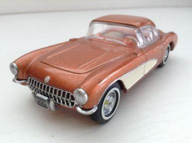 1:43 Dinky 1956 Chevrolet Corvette Bronze DY-23B