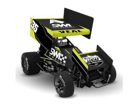 1:18 R&R 2017 Jamie Veal #35 SWI Engineering Sprint Car