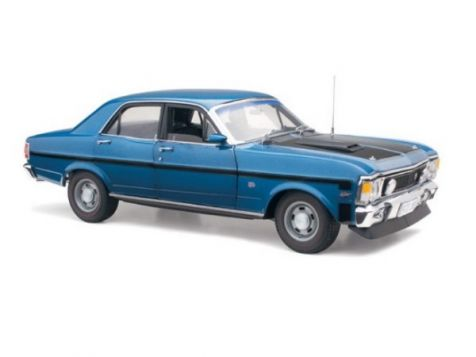 1:18 Classic Carlectables Ford XW Falcon Phase II GT-HO in Starlight Blue