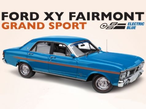 1:18 Classic Carlectables Ford XY Fairmont GRAND SPORT - Electric Blue diecast model car