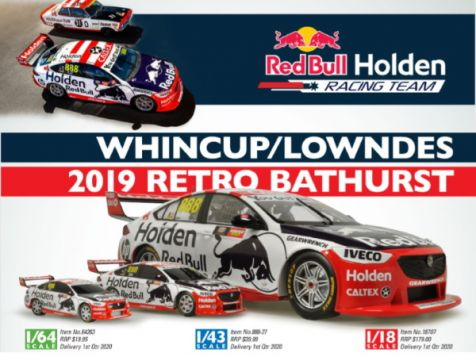 1:43 Classic Carlectables 2019 Holden ZB Commodore #888 Lowndes/Whincup