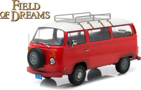 1:18 Greenlight Artisan 1973 Volkswagen Type 2 Bus - Red - Field of Dreams Movie