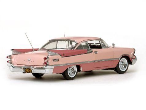1:18 Sunstar 1959 Dodge Custom Royal Lancer Hard Top - Rose Quartz/Coral  diecast model car