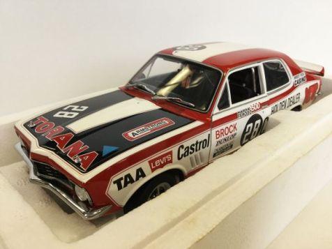1972 1:18 Biante Bathurst Winning Holden LJ Torana GTR XU-1 #28C Peter Brock + Plaque