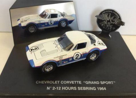 """1:43 Eagle Collectibles 1964 Chevrolet Corvette """"Grand Sport"""" Coupe #67 1964 Road America"""