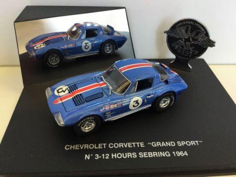 "1:43 Eagle Collectibles 1964 Chevrolet Corvette ""Grand Sport"" Coupe #2 1964 12 Hr Sebring"