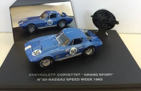 1:43 Eagles Collectibles 1963 Chevrolet Corvette Grand Sport Coupe #80 Nassau Speed Week
