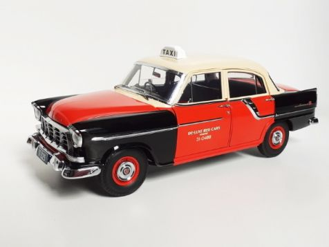 1:18 Classic Carlectables Holden FC Special De-Luxe Red Cabs Tax diecast model car