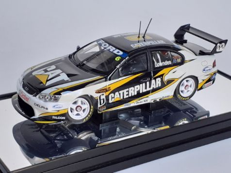 1:43 Classic Carlectables Craig Lowndes' year 2004 Ford Performance Racing BA Falcon - #6 Caterpillar Livery diecast model