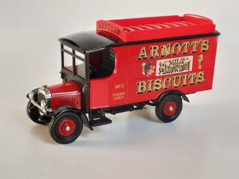Corgi Thornycroft Van with Roof Rack 'Arnott's Biscuits'