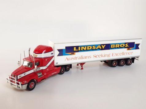 1:64 TRUX Aussie Big Rigs & Buses Kenworth T600 Lindsay Brothers TX4B