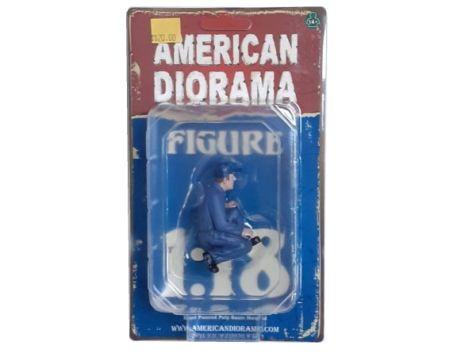 "1:18 American Diorama ""Juan"" Mechanic w/ Lug Wrench Figure Accessory"