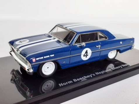 1:43 Ace Models Norm Beechey's Neptune Racing #4 Chevy Nova 09A