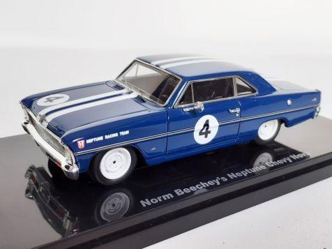1:43 Ace Models Norm Beechey's Neptune Racing #4 Chevy Nova 09A