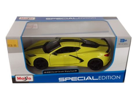 1:24 Maisto 2020 Chevrolet Corvette Stingray in Yellow