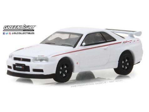 1:64 Greenlight 2001 Nissan Skyline GT-R (BNR34) White Pearl - Tokyo Torque