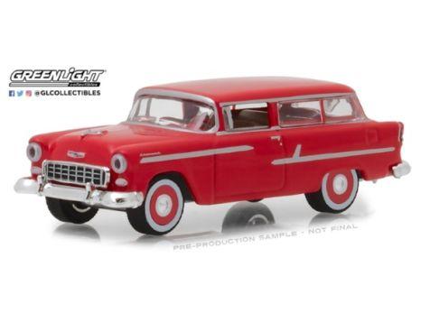 1:64 Greenlight 1955 Chevrolet Two-Ten Handyman Wagon Gypsy Red - Estate Wagons