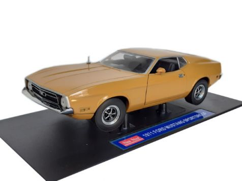 1:18 Road Signatures 1968 Shelby GT-500KR Mustang Gold w/White Stripes 92168