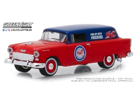 1:64 Greenlight 1955 Chevy One Fifty Sedan Delivery - Pure Oil 'Running on Empty'