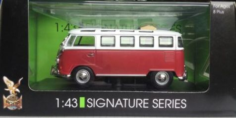 1:43 Road Signatures 1962 Volkswagen Microbus in Red 43208