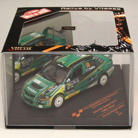 1:43 VITESSE Mitsubishi Lancer Evolution IX #38 Winner-PWRC Rally New Zealand 2010 43414