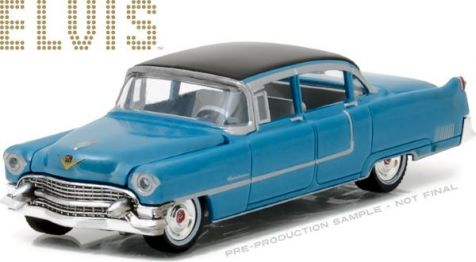 1:64 Greenlight 1955 Cadillac Fleetwood Series 60 Blue Elvis Presley 44760-A