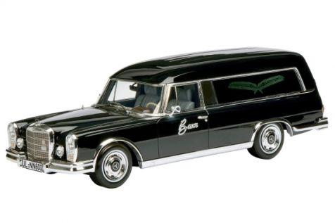 1:43 Schuco Mercedes-Benz 600 Bestattungswagen, Schwarz 450881200