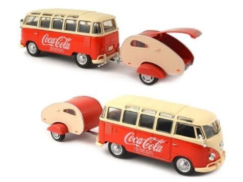 1:43 Motor City Classics Coca-Cola 1962 VW Samba Bus 467433