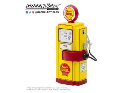 1:18 Greenlight 1948 Wayne 100-A Vintage Gas Pump Super Shell 14080-A