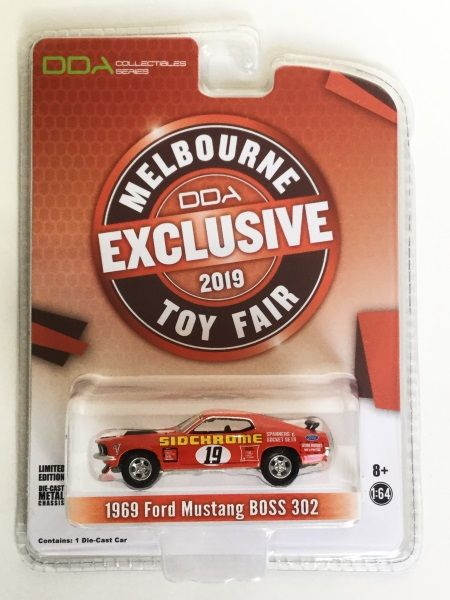 1:64 DDA/Greenlight 1969 Ford Mustang Boss 302 #19 Melbourne Toy Fair Exclusive