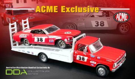 1:64 DDA 1969 Ford Mustang Brut #33 Allan Moffat w/ Ford F-350 Ramp Truck