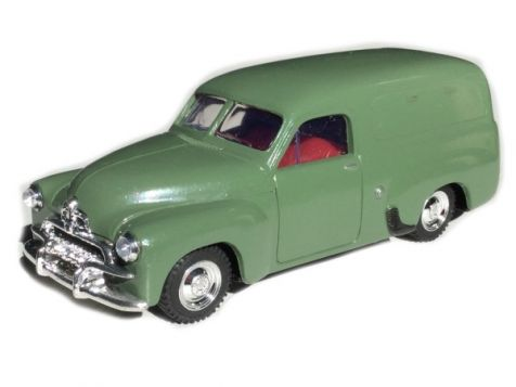 1:43 TRAX 1953 Holden FJ Van in Dark Green with Red Interior