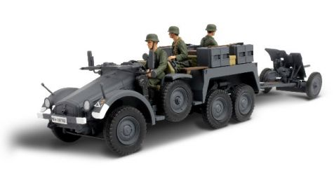 1:32 Forces of Valor German KFZ. 69 Towed Pak 36 - Baltic States 1941 diecast model