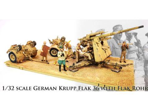 1:32 Forces of Valor German 88mm Flak 18 Anti-Tank Artillery Gun