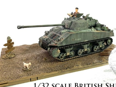 1:32 Forces of Valor British Sherman Firefly VC 8th Armored Brigade Normandy 1944