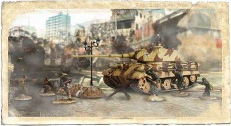 1:72 Forces of Valor (Battle Extreme) German King Tiger & Soldiers Set - France 1944 diecast military model