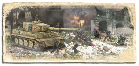 1:72 Forces of Valor Battle Extreme German Tiger 1 & Soldiers Set - Normandy 1944 diecast military model