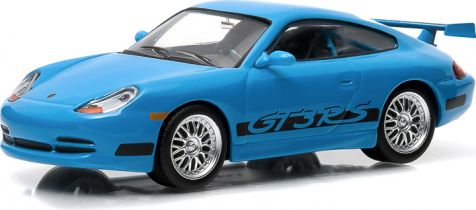 1:43 Greenlight Model: Fast and Furious Brain's 2001 Porsche 911 Carrera GT-3 RS diecast model car