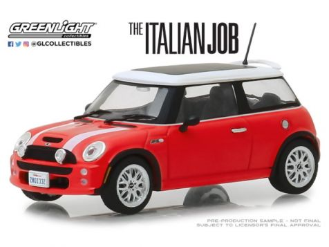 "1:43 Greenlight 2003 Mini Cooper S ""The Italian Job"""