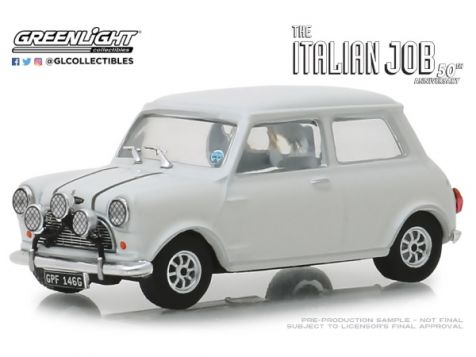 "1:43 Greenlight 1967 Austin Mini Cooper S 1275 Mk I Red w/Black Stripes ""The Italian Job"""