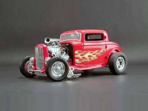1:18 ACME 1932 Blown Ford Three Window Hot Rod