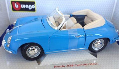 1:18 Bburago Porsche 356B Cabriolet 12025