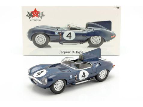 1:18 CMR 1956 Jaguar D-Type #4 Sanderson/Flockhart 24h LeMans Winner w/Driver Figurine