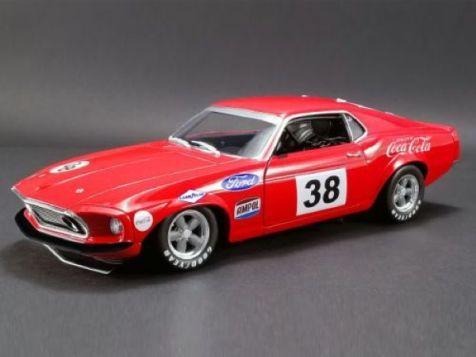 1:18 DDA 1969 Ford Boss 302 Trans Am Mustang #38 Allan Moffat