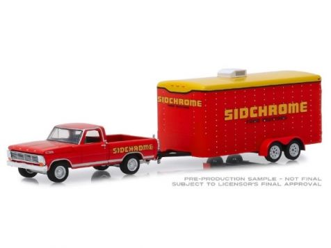 1:64 DDA 1967 Ford F-100 Pickup with Trailer in Sidchrome Livery