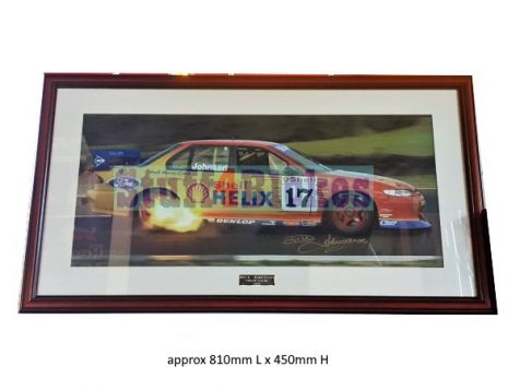Dick Johnson Ford EL Falcon 1998 Phillip Island Limited Edition & Hand Signed Framed Photograph