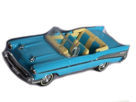 1:43 Dinky 1957 Chevrolet Convertible Blue/White DY-27