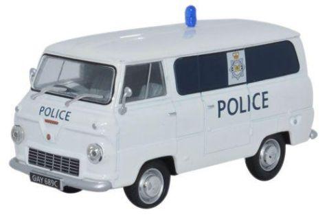 1:43 Oxford Diecast Ford 400E Van Glamorgan Police FDE012